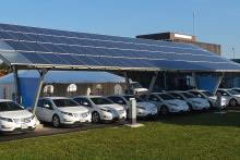 solar electric car charging installer